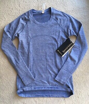 $ CDN169.99 • Buy Lululemon Swiftly Tech Long Sleeve 2.0 Shine Special Regatta Blue 6 8 12