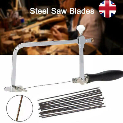 Adjustable Jewellers Piercing Saw Frame Jewellery Making Tool & Saw Blades • 13.46£