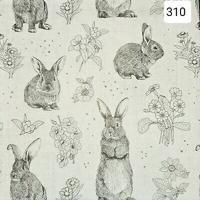 5x Single Table Paper Napkins,Decoupage/Dining/Craft/Vintage/Easter  • 1.50£