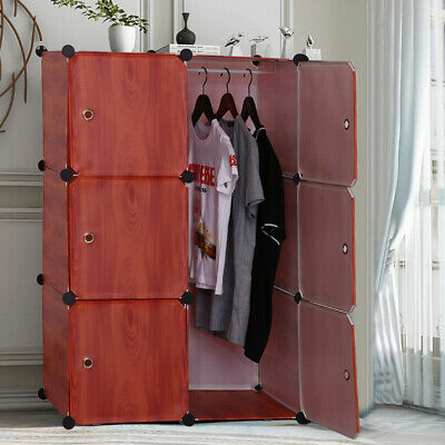 AU14.99 • Buy DIY Big 6 Cube Storage Cupboard Cabinet Wardrobe Rack Toy Book Shelves Compartme