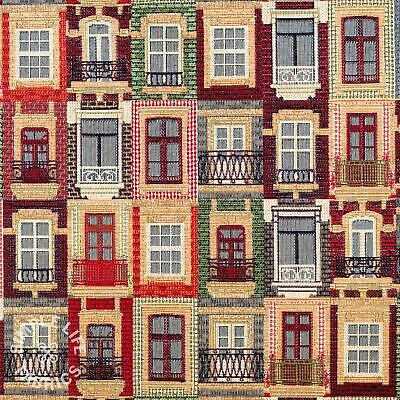 Lisbon Windows Tapestry Fabric - Per Half Metre • 6.70£