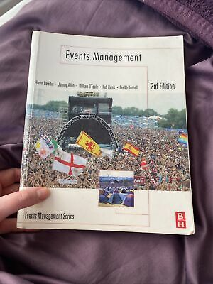 £10 • Buy Events Management By William O'Toole, Johnny Allen, Glenn A. J. Bowdin, Ian...