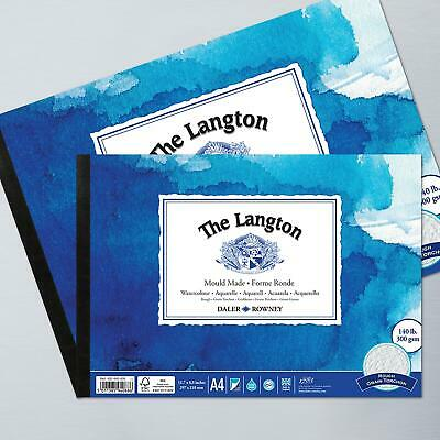 Daler-Rowney LANGTON ROUGH 140lb GUMMED PAD Artists Watercolour Paper • 7.40£