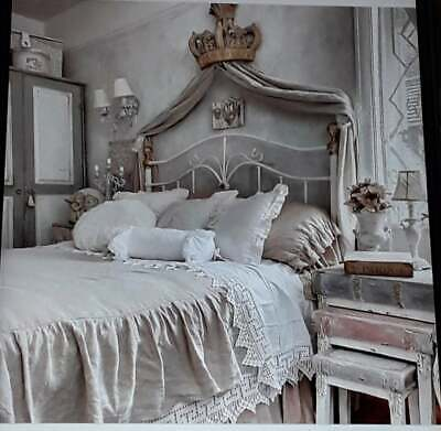 French Chateau Crown Bed Canopy With Hooks Exquisite Grand Statement Piece  • 125£
