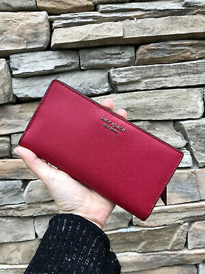 $ CDN70.69 • Buy Kate Spade New York Cameron  Large Slim Bifold Wallet In Rosso ( Red)