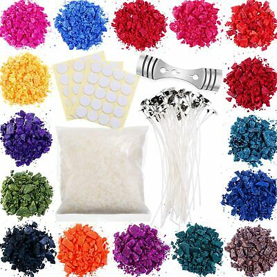 £16.73 • Buy Soy Candle Wax Dye DIY 16 Colour Flakes For Mould & Wick Making Creation Set Kit