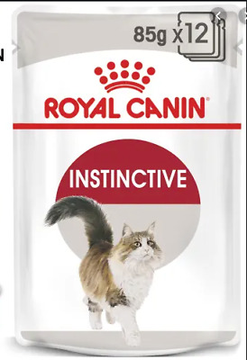 12 X 85g ROYAL CANIN INSTINCTIVE WITH GRAVY ADULT WET POUCH CAT FOOD POUCHES • 11.99£