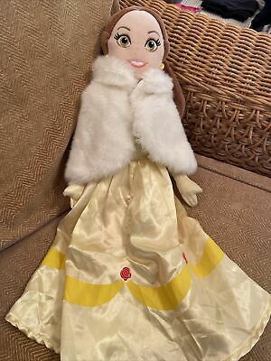 """Disney Store Princess Belle Beauty & The Beast Soft Plush Toy Doll 20"""" (a22) • 9.99£"""