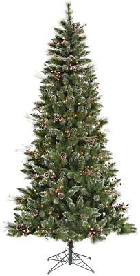 6ft Snow Tipped Pine Berry Artificial Christmas Tree 250 Warm White LED Lights • 145.32£