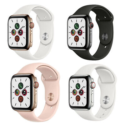 $ CDN407.51 • Buy Apple Watch Series 5 44mm GPS Cellular Stainless Steel Space Black Gold Silver