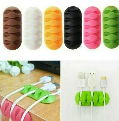 £2.49 • Buy Cable Clip Desk Tidy Winder Organizer Phone Wire USB Charger Holder Lead Fixings