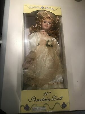 $ CDN18.29 • Buy  Victorian Beauty Bisque Porcelain Doll 20  Yellow Lace Dress  New In Box