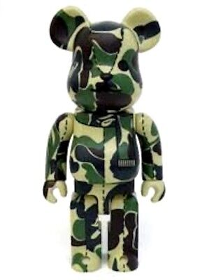 $349.99 • Buy Rare 1st New BE@RBRICK 400% BAPE Green Camo A Bathing Ape ABC Medicom BearBrick