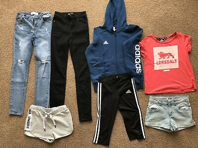 AU75 • Buy 💜Girls Teens Jeans Shorts Tops Clothes Lot 💜Adidas Lonsdale Just Jeans EUC!