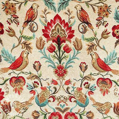 William Morris-style Birds And Flowers Tapestry Fabric - Per Half Metre • 6.70£