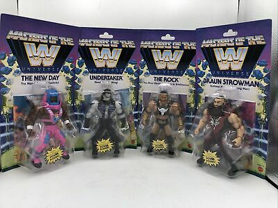 $120 • Buy WWE Masters Of The Universe Lot The Rock Undertaker New Day Strowman Wave 3 Set