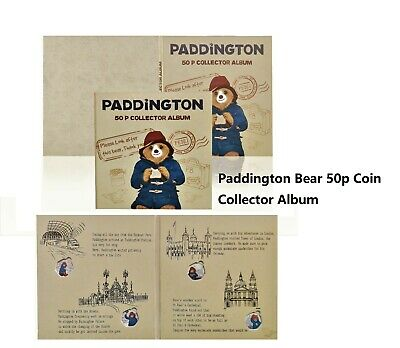 Brand New 2020 Paddington Bear 50p Fifty Pence Coin Album BIRTHDAY PRESENT GIFT • 13.99£