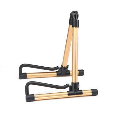$ CDN29.13 • Buy Universal Guitar Bass Stringed Instrument Stand Holder For Guitarist Golden N1Y3