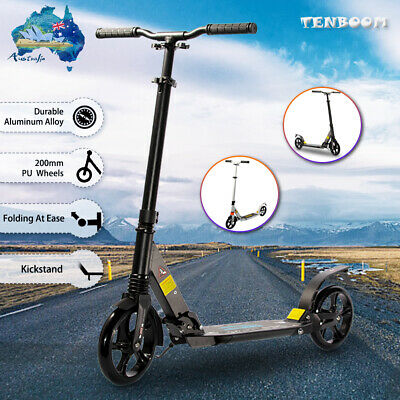 AU93.99 • Buy Push Scooter For Adult Teens Kids Dual Suspension 200mm Wheel Foldable Portable