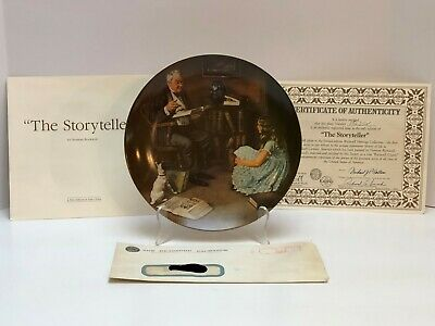 $ CDN13.08 • Buy Norman Rockwell  The Storyteller  Edwin Knowles Braford Exchange Collector Plate
