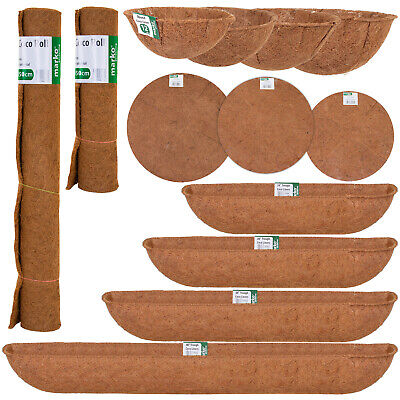 £5.99 • Buy Hanging Basket Coco Liners Moulded Natural Fibre Plant Garden Roll Replacement