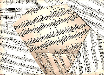 £2.99 • Buy Vintage Sheet Music Paper Decoupage Scrapbooking Card Crafting Notes Pages Art