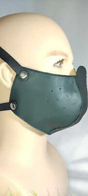 100%Leather Adult Face Mask With Filter,Black ,Green,Brown Face Mask Reusable • 19.50£
