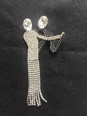 Butler And Wilson Dancing Couple, Black + White Crystals, Boxed, Unused, Vgc. • 65£
