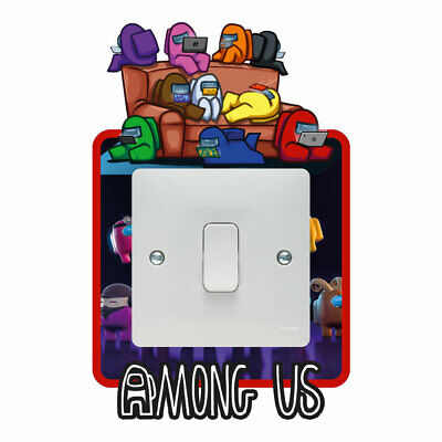 Among Us Light Switch Surround Sticker Decal Kids Boys Girls Bedroom • 2.49£