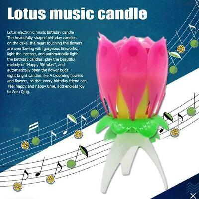 $ CDN5.18 • Buy 1pcs Lotus Candle Birthday Flower Musical Rotating Floral Candles Music J9X3