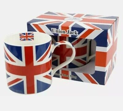 Union Jack Mug Cup Gift Boxed UK Souvenir London Union Red White And Blue Flag   • 6.99£