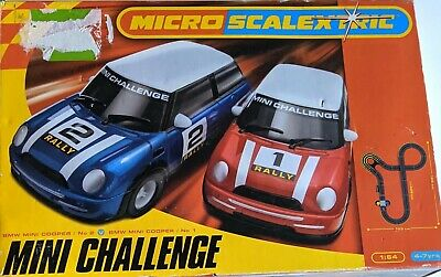 Micro Scalextric Mini Challenge VG++ Used Boxed Full Working Order • 35£