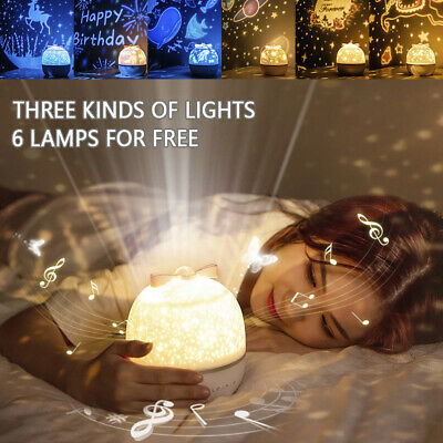 LED Night Light Projector360°Rotation Starry Sky  Kids Bedroom Lamp Xmas Gifts • 13.39£