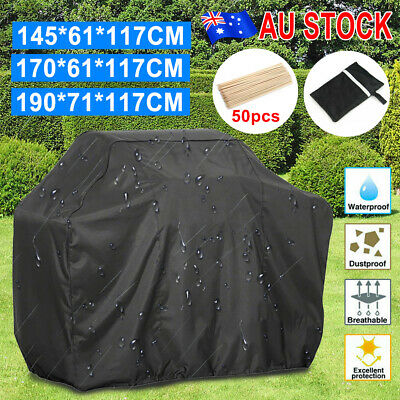 AU17.09 • Buy 2/4/6 Burner BBQ Cover Waterproof Outdoor Gas Charcoal Barbecue Grill Protector