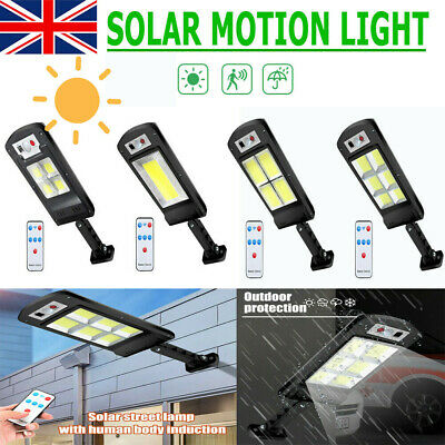 Waterproof LED Solar Wall Light Motion Sensor Lamp Outdoor Garden Yard Street UK • 12.99£