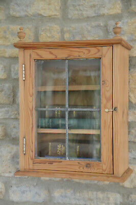 Antique Pine Apothecary / Bathroom / Bookcase / Wall Cupboard / Cabinet • 220£