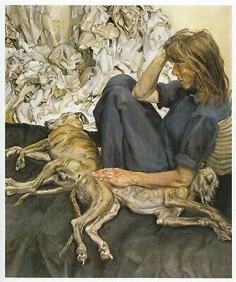 Triple Portrait Lucian Freud Print In 11 X 14 Inch Mount Ready To Frame SUPERB • 19.95£