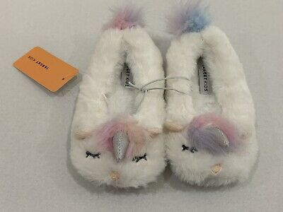 AU13.59 • Buy Young Girls Size 11 White UNICORN Slippers TARGET *NEW* Sole 19cm