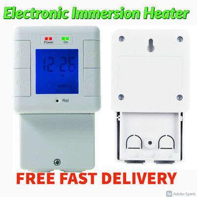 BG Electronic Immersion Heater Timer 24 Hour Programmable Heaters Lights Power • 19.95£
