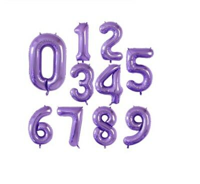 AU4.99 • Buy Purple 40 Inch Number Foil Balloons