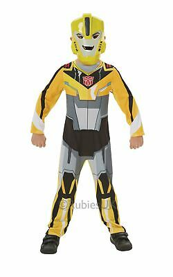 Transformers Bumble Bee Boys Fancy Dress Kids Childs Costume Party Outfit Licens • 20.99£