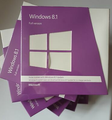 Microsoft Windows 8.1 (2x DVDs) 32+64-bit  Full Edition SEALED BOX VAT Inc UK  • 88.96£