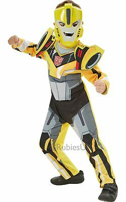 Transformers Bumble Bee Boys Fancy Dress Kids Childs Costume Party Outfit Licens • 21.99£