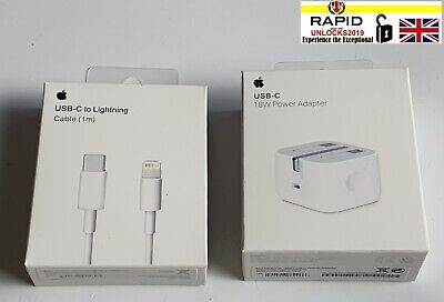 £9.79 • Buy For Apple A1696 18W USB C Power Adapter / USB-C Cable UK Plug - IPad 11 Pro 12.9