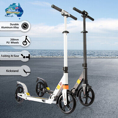 AU65 • Buy Push Kick Scooter Adult Child Commuter City Suspension Folding Large 200mm Wheel