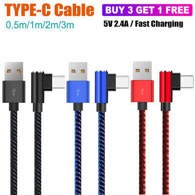 AU4.95 • Buy Braided Type-C USB Fast Charger Cable Cord Samsung S9 S20 S8 S10 Plus