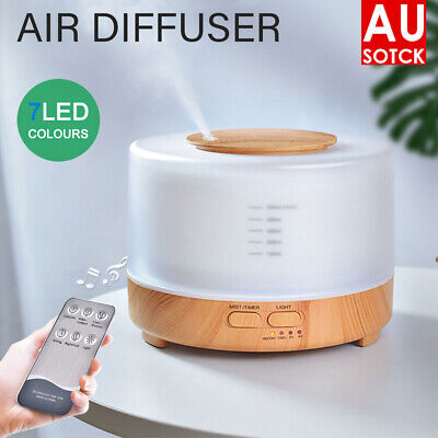 AU25.49 • Buy 500ml Essential Air Mist Oil Aroma Diffuser Ultrasonic Humidifier Aromatherapy