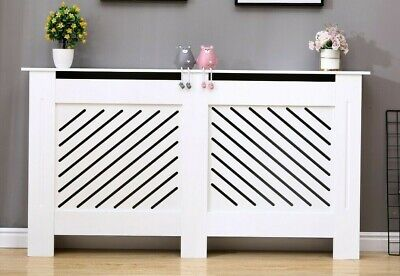 £42.99 • Buy Milford Modern Radiator Cover Wood MDF Wall Cabinet In White 4 Sizes