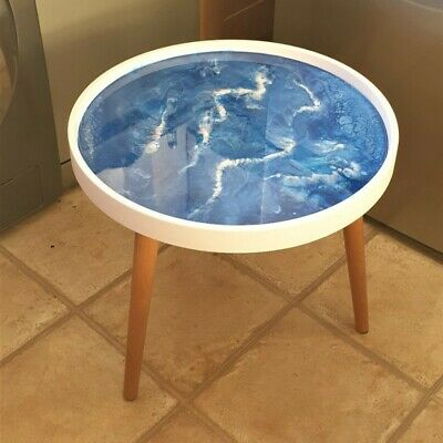 Epoxy Resin Round Coffee Table Upcycled • 60£