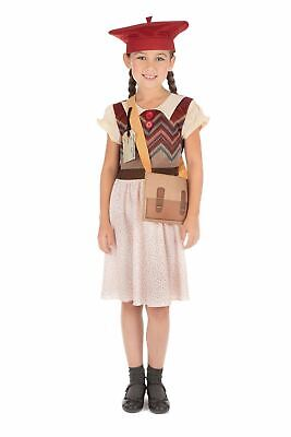 Kids Wartime Schoolgirl Costume WW2 Book Week Day Fancy Dress Evacuee Outfit • 12.99£